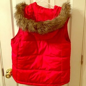 GAP Puffer Vest w/ Detachable Faux Fur Hood